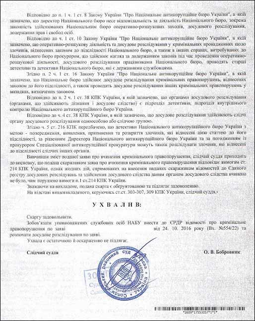 ухвала Баглик Сергій Павлович