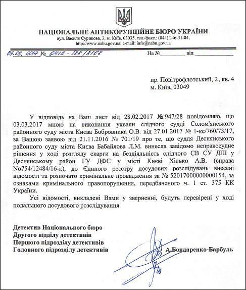 суддя Бабайлова