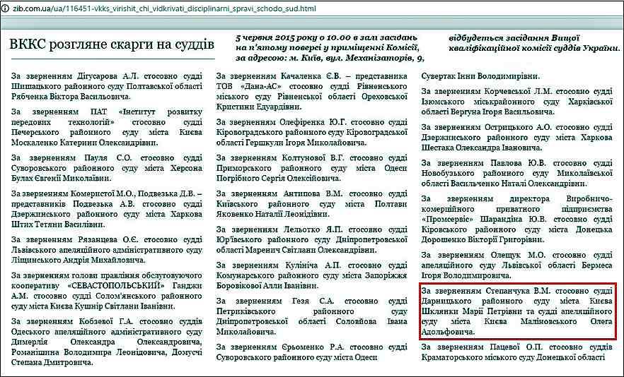 суддя Шклянка_ВКДКСУ
