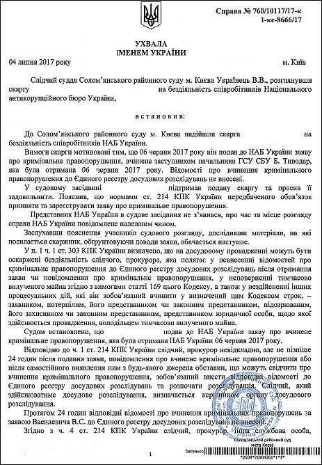 Тиводар Богдан Михайлович ухвала