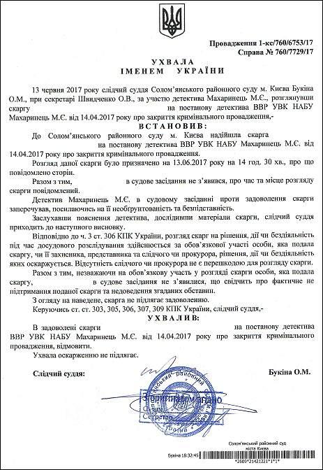 суддя Букіна Олена Миколаївна постанова