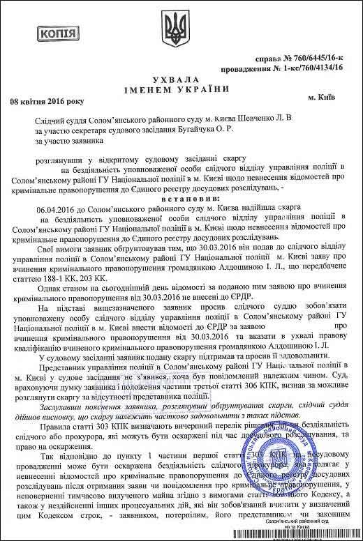 Алдошина Ірина Леонідівна