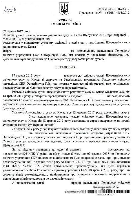 Чайка Христина Анатоліївна детектив