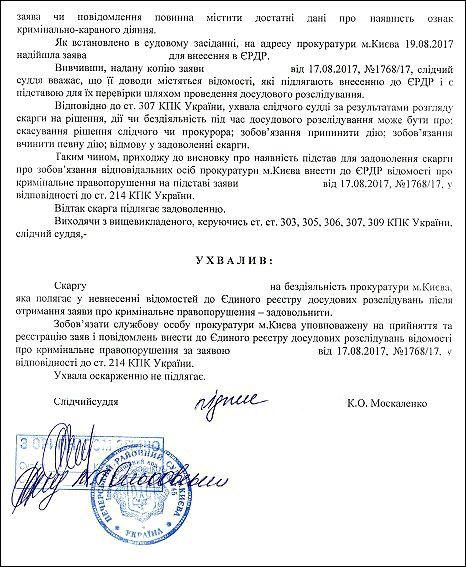 злочини Чайка Христина Анатоліївна