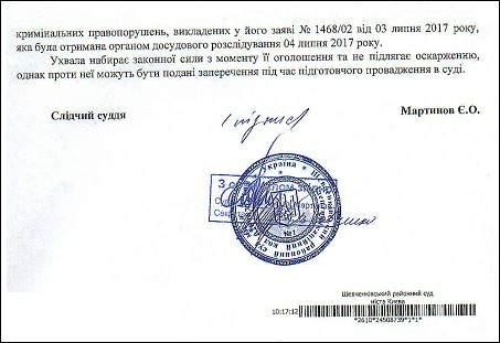 Чечотка І.Р. Романюк С.І. ухвала ЄРДР