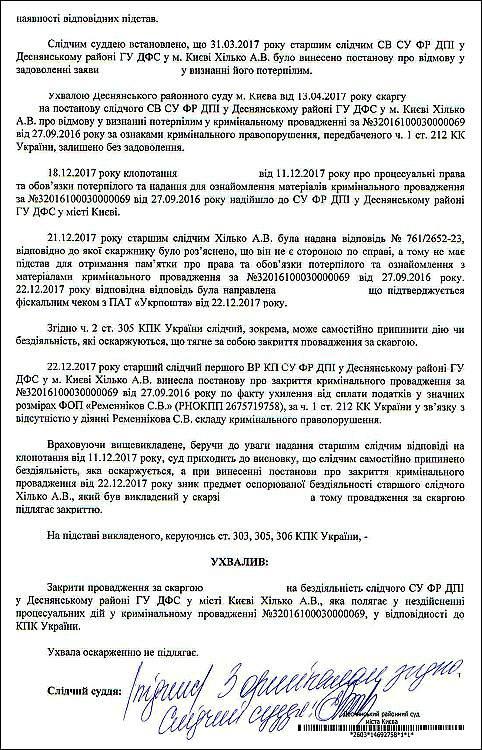 Лісовська Олена Володимирівна ухвала 2