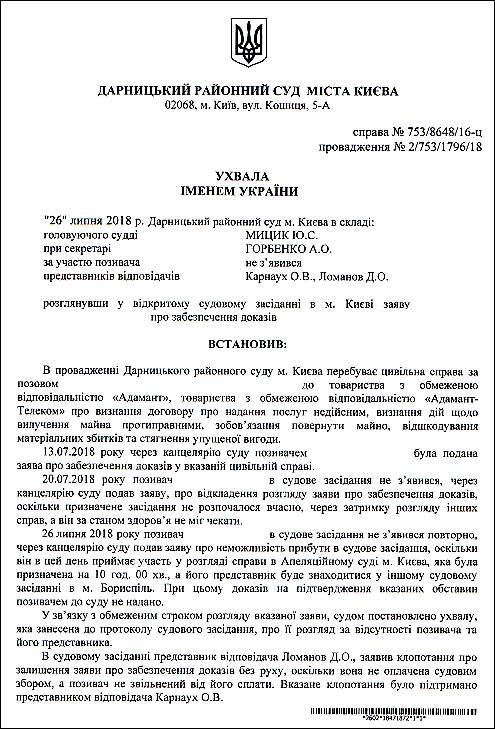 Мицик Юлія Сергіївна шахрайська ухвала 1