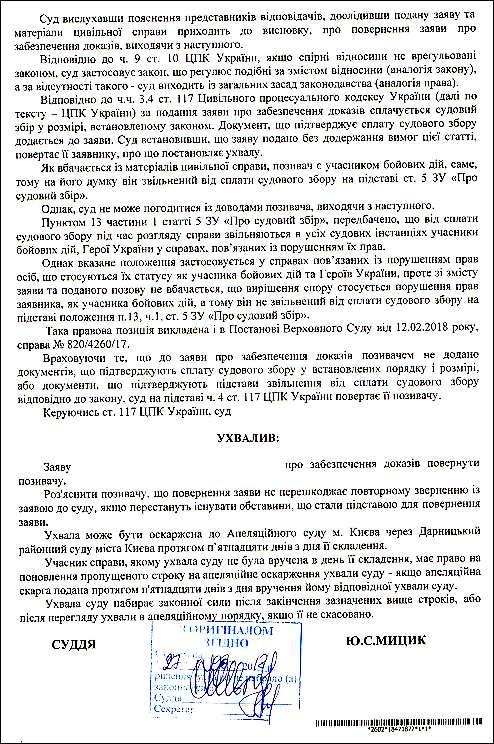 Мицик Юлія Сергіївна шахрайська ухвала 2